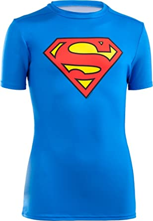 45695254 Under Armour Kids Boys KidsLittle Alter Ego DC Comics Superman S/S Fitted  Shirt (