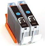 2x Canon Cyan CLI-551 XL FCI Compatible Printer Ink Cartridges To Replace (2x 551C Cyan) to replace Canon Pixma ip7250, iX6850, MG5450, MG5550, MG5650, MG6450, MG6650, MX725, MX925 printers, double Capacity inks cartridge