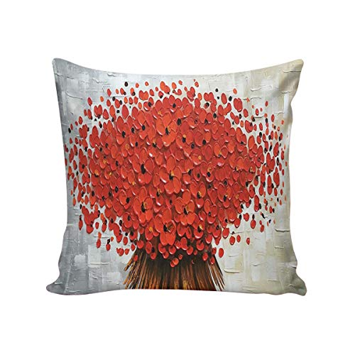 Queen Area Square Pillowcases for Mens Women Girls Boys Luxury Soft Throw Cushion Cover Pillow Sham for Living Room Sofa Bedroom Couch & Bed Crimson BouQAAt 16