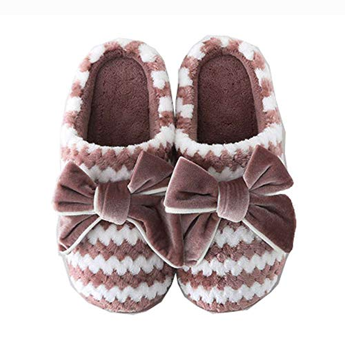 Winter Women Shoes Indoor Slides Outdoor Slippers Bow Cozy House Velvet ATqwR1Sx7Z