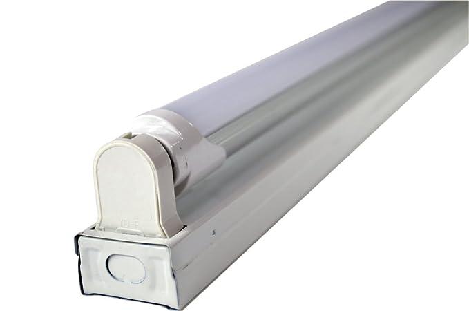 White 2-foot 1-light Flush-mount Ceiling Light Fixture with 1 LED T8 ...