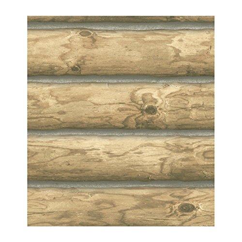 (Rustic Cabin Lodge Log Wallpaper CH7977 Priced per 60 sq.ft Roll)