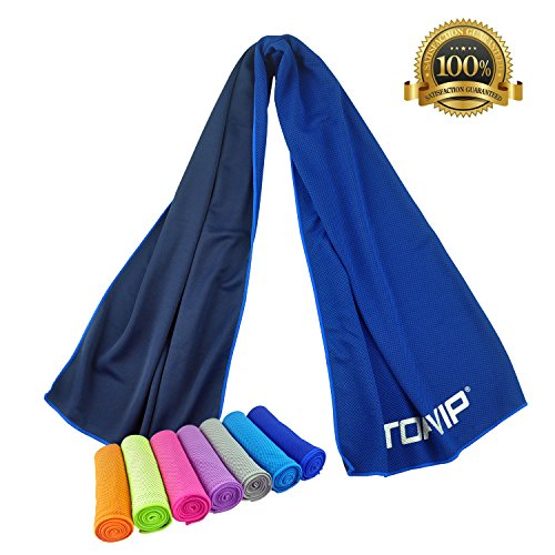 Sports Cooling Towels for Hiking Camping Biking Fishing Yoga Golf Tennis Athletes Baby Dogs care Fitness&More Quick dry Instant Cool Chilling Towels by TOPVIP (Dark - Gifts For Athletes