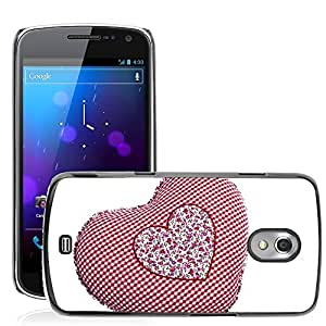 Hot Style Cell Phone PC Hard Case Cover // M00153245 Heart Red Love Health White Gift // Samsung Galaxy Nexus GT-i9250 i9250