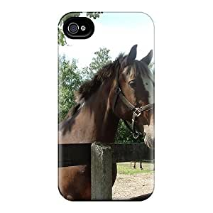 For Jeffrehing Iphone Protective Case, High Quality For Iphone 4/4s Pretty Horse Skin Case Cover