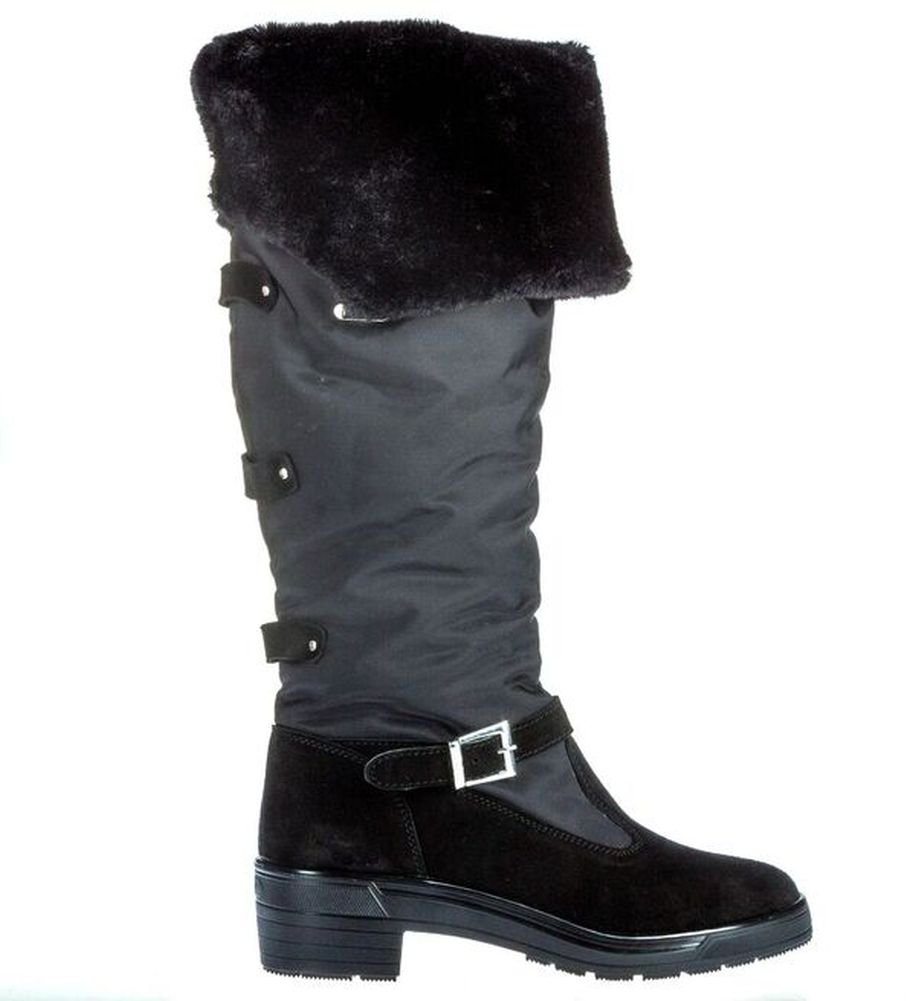 Pajar Women's Norah Snow Boot, Black Suede, 39 EU/8-8.5 M US