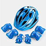 Easy Living Kids Helmet and Knee Pads Elbow Wrist Guard Sport Protective Gear for Cycling Skating Skiing Adjustable for Children 5 to 12 Years Old