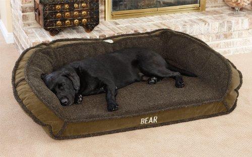 Orvis Tempur-pedic Deep Dish Dog Bed / Medium Dogs 40-60 Lbs., Sage Shearling,, My Pet Supplies