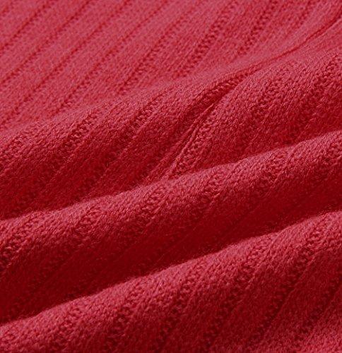 Primavera Tinta Donne Lunga Corto Manica Partito Vestiti Rosso Moda Abito da Tubino Unita a Strette Vestito Scollo Uncinetto Mini Autunno a Nuovo Barca Cocktail Abiti Festa e zrqBxXz