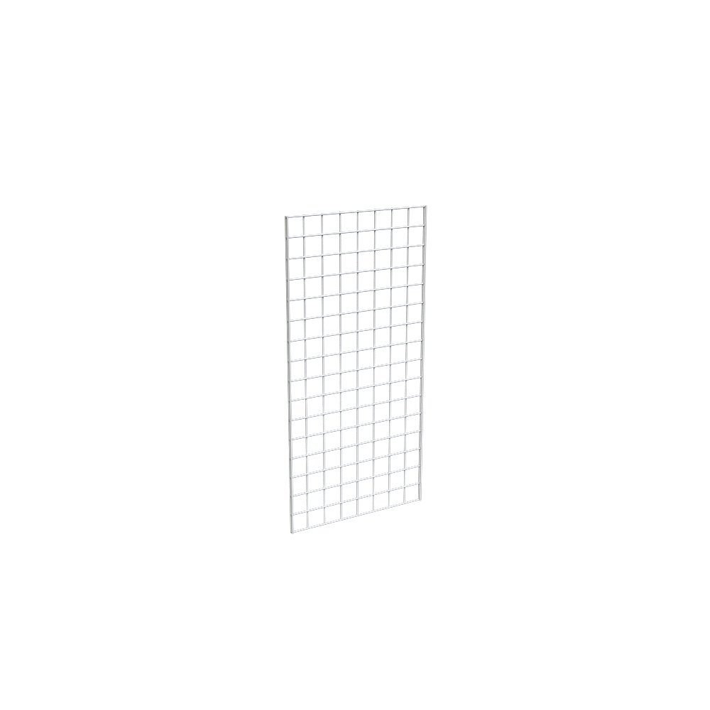 Grid Panel for Retail Display – Perfect Metal Grid for Any Retail Display, 2' Width x 4' Height, 3 Grids Per Carton (White)