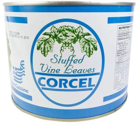 (CORCEL STUFFED VINE LEAVES WITH RICE (DOLMADAKIA) 4.4 LB CAN)