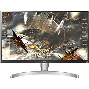"LG 27UK650-W 27"" 4K UHD IPS Monitor with HDR10 and AMD FreeSync Technology (2018)"