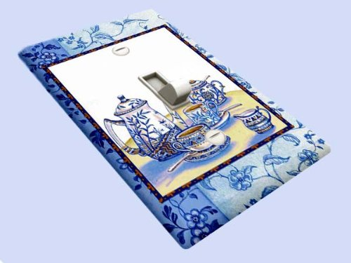 Blue Willow Tea Decorative Switchplate (Light Switchplate Cover Unique Decor)