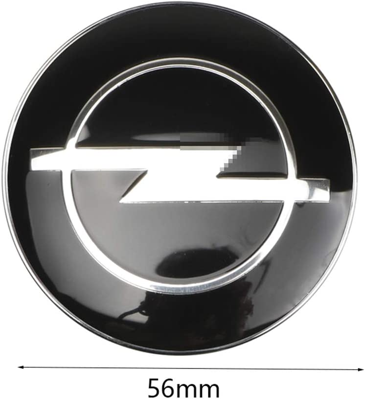 4 St/ück//Satz Auto-Styling-Zubeh/ör 60 mm Schwarz JTAccord Car Wheel Center Radkappen f/ür Opel Astra H G J Insignia Mokka Zafira Corsa