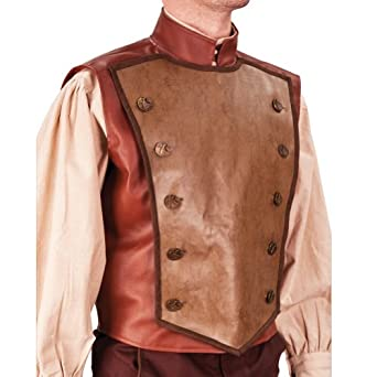 Men's Steampunk Costume Essentials Steampunk Airship Captain Flying Vest - Large $110.00 AT vintagedancer.com