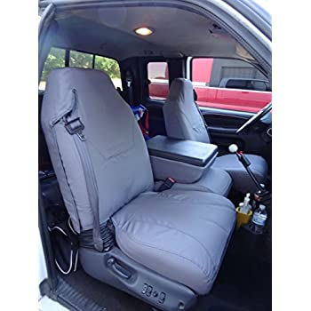 Durafit Seat Covers D1180 GRAY Dodge Ram Quad Cab 1500 3500 40 20 Split With Integrated Seatbelts Molded Headrests And Center Console
