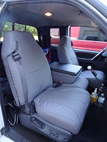 (Durafit Seat Covers, made for 1998-2001 Dodge Ram Quad Cab 1500-3500, 40/20/40 Split Seat With Integrated Seatbelts, Molded Headrests and Center Console, Car Seat Covers in Gray Charcoal Endura Fabric)