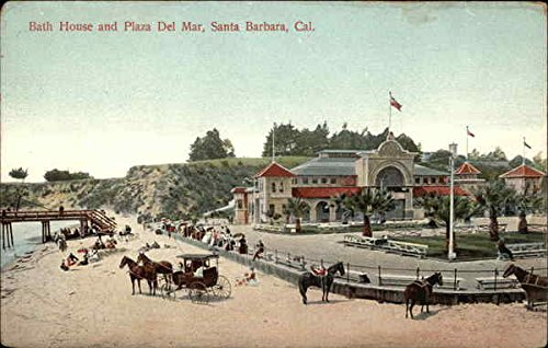 Bath House and Plaza Del Mar Santa Barbara, California Original Vintage - Plaza Mar Del
