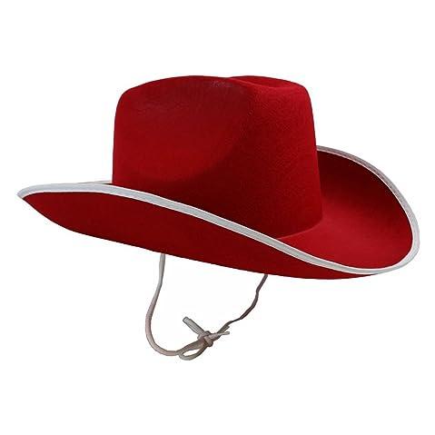 Elee Wool Blend Wide Brim Western Cowboy Hat Cowgirl Jazz Cap White Leather Belt