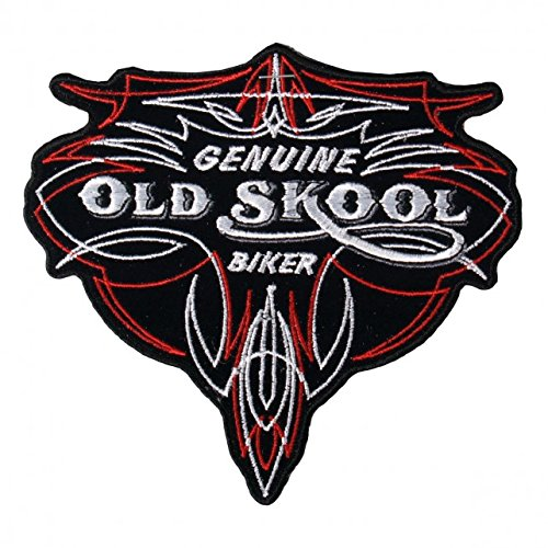 Hot Leathers, GENUINE OLD SKOOL BIKER PINSTRIPE, Iron-On / Saw-On Rayon PATCH - 5