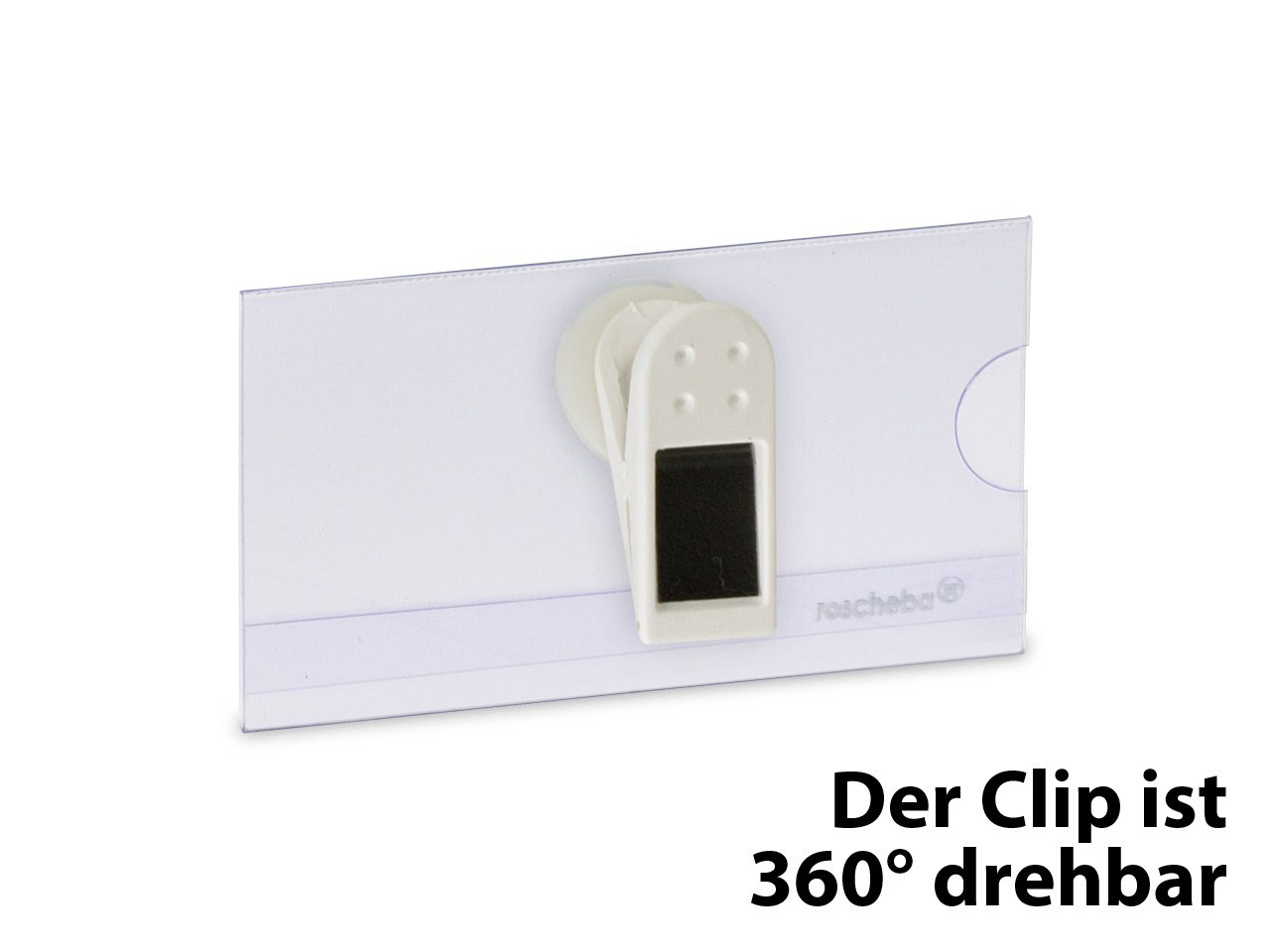 Namensschilder inkl Befestigung: Sicherheitsnadel Marke: roscheba/® Staffelpreise Made in Germany Papiereinlagen 75 x 42 mm, 10 x Klassische Namensschilder aus Hartfolie