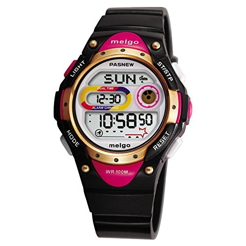 Sports Watch 100m (Jewtme LED Waterproof 100m Sports Digital Watch for Children Girls Boys With Three Alarms-Black)