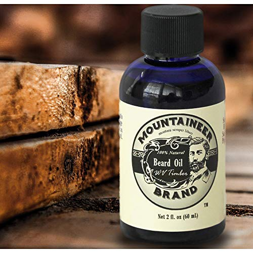 Beard Oil by Mountaineer Brand, WV Timber, Scented with Cedarwood and Fir Needle, Conditioning Oil, 2 oz bottle