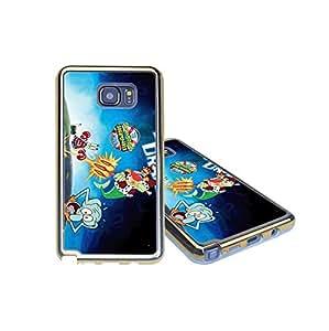 The SpongeBob SquarePants Samsung Galaxy Note 5 Funda Case Cover, Durable Plastic Protector Golden Edge Ultra Slim Printed Snap-On Funda Cases for Samsung Galaxy Note 5 - Cartoon Movie