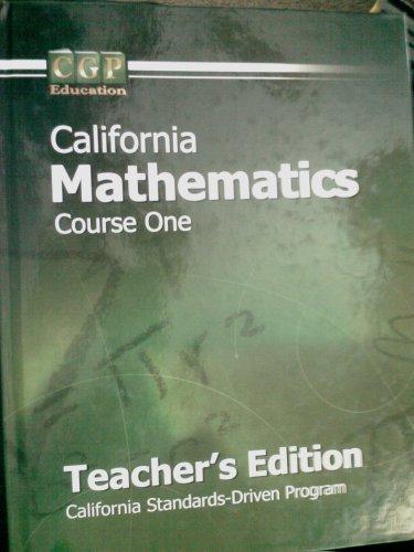 Mathematics Crs One w/CD (CA) (TE)