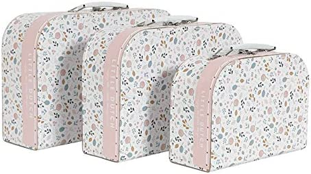 Little Dutch 4464 Spring Flowers - Juego de 3 maletas para niños