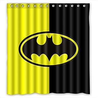 Custom Batman Logo Pattern Waterproof Bathroom Shower Curtain 100% Polyester Fabric Shower Curtain Standard Size 66 X 72