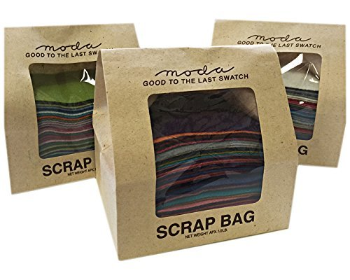 (Moda 1/2 Pound Wool Scrap Bag Multi Color Rectangles)
