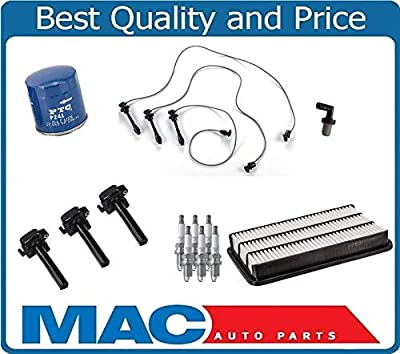 Tune Up 13pc Kit Wires SparkPlugs Air Oil Filters for Toyota Camry 3.0L 96-01