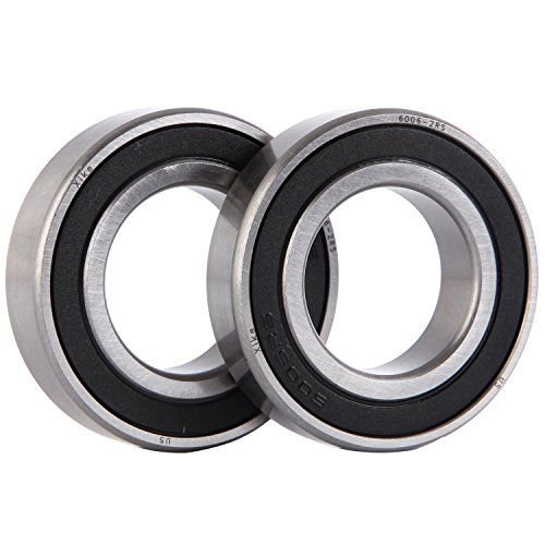 (XiKe 2 Pcs 6006-2RS Double Rubber Seal Bearings 30x55x13mm, Pre-Lubricated and Stable Performance and Cost Effective, Deep Groove Ball Bearings.)