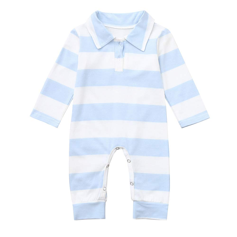 Infant Romper,Baby Boys Girls Long Sleeve Striped Jumpsuit Outfits Clothes