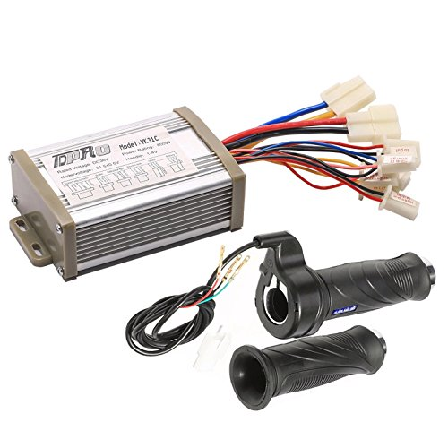 TDPRO 36V 800W Brush Speed Motor Controller and Throttle Grip for Electric Scooter Bicycle e-Bike Tricycle