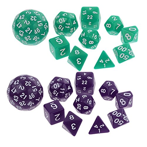 MagiDeal Pack/20pcs Digital Dice Multi-sided Dices Set for Dungeons & Dragon D&D RPG Playing Board Game Dice Toys Party Supplies by Unknown