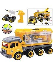 deAO Camion da Costruzione per Assemblare e Smontare Veicolo Puzzle Include Escavatore Cacciavite
