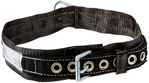Miller by Honeywell 3NA/XLBK Single D-Ring Safety Body Belt with 1-3/4-Inch Webbing and 3-Inch Back Pad, X-Large, Black ()