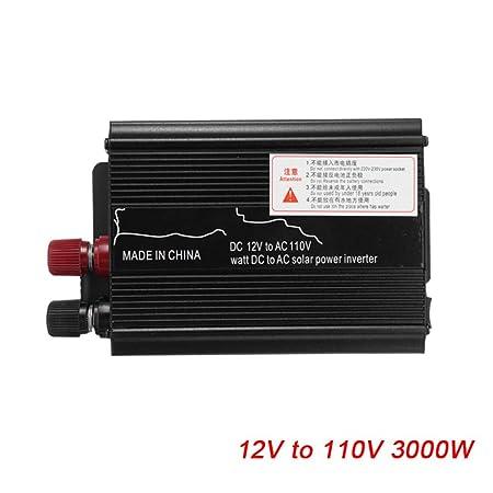 Inversor de Corriente para Coche con Pantalla LCD DC12V//24V a AC110V//220V USB convertidor de Onda sinusoidal Proglam 12V To 220V 4000W