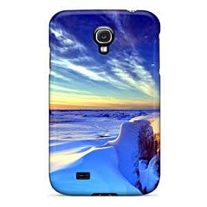 Jeffrehing Galaxy S4 Hybrid Tpu Case Cover Silicon Bumper Snow Carpet