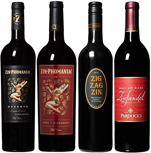 Mendocino Wine Company Zinfandel Tasting Flight Wine Mixed Pack, 4 X 750mL