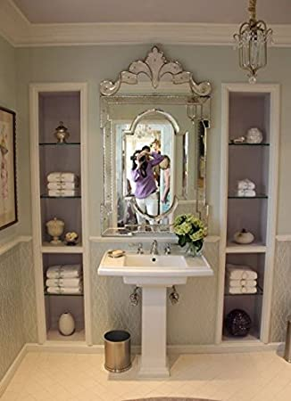 Venetian Design Mirror For Wash Basin