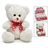"4.5"" Plush Valentine Bear (White)"