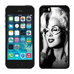 Iphone 5c Case,Custom 5C Case Design with Marilyn Monroe 2 Cell Phone Cover Case for Iphone 5c in Black