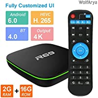 Android TV Box : 4K TV Box with 2GB RAM 16GB ROM Quad Core, Support 3D / 4K / H.265 / WiFi / VP9 Mini TV Box [2018 Version]