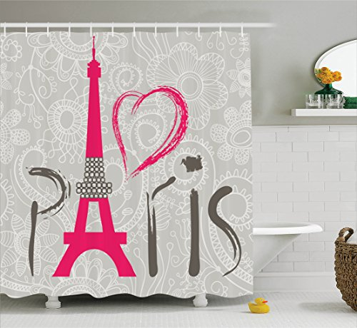 Ambesonne Collection Lettering Background Polyester
