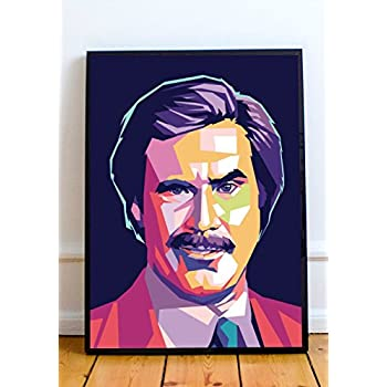 Anchorman The Legend of Ron Burgundy Quotes Mosaic Framed 9X11 Limited Edition