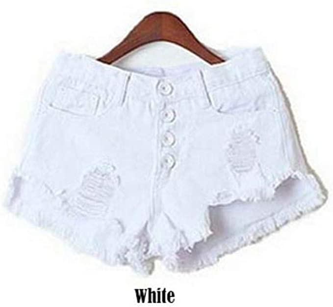 DFEIPING Denim Shorts Women Fashion Ladies Tassel Hole High