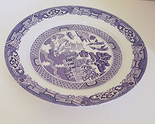 Royal Cuthbertson Blue Willow Round Chop Plate Serving Platter 12 (Cuthbertson Blue Willow)